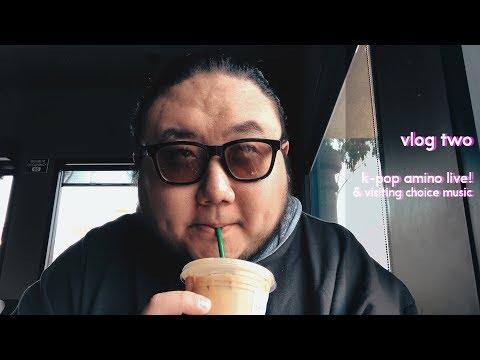 vlog two: k-pop amino  & visiting choice