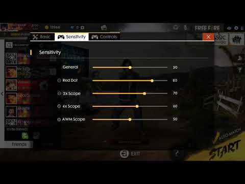 Free fire best setting for auto aim