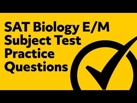 SAT Biology E/M Subject Test Practice Questions