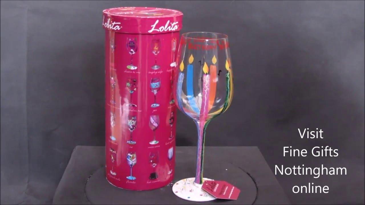 Lolita Happy Birthday Wine Glass