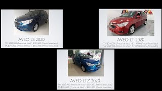 CHEVROLET AVEO 2020: LS, LT Y LTZ; ANÁLISIS INTERIOR Y EXTERIOR