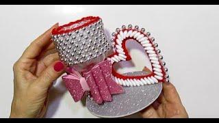 НЕОБЫКНОВЕННЫЙ ПОДАРОК из пластиковой бутылки ко Дню Святого Валентина и 8 марта своими руками D Y.