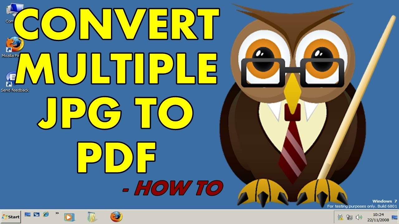how to convert jpg to pdf on windows 7 without software