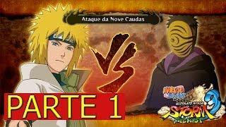 Naruto Shippuuden Ultimate Ninja Storm 3 Full Burst detonado PC Ataque da Nove Caldas - parte 1