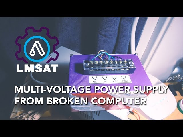 Multi-voltage benchtop power supply from broken iMac - LMSAT