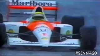 GP do Brasil 1991 - Ultima Volta / Atendimento no carro / Podium (TV Globo) [HD]