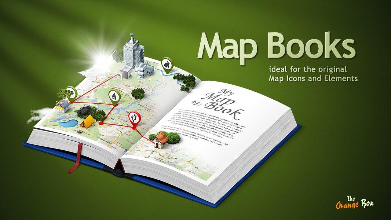 HD Wallpaper » Map 3d Books