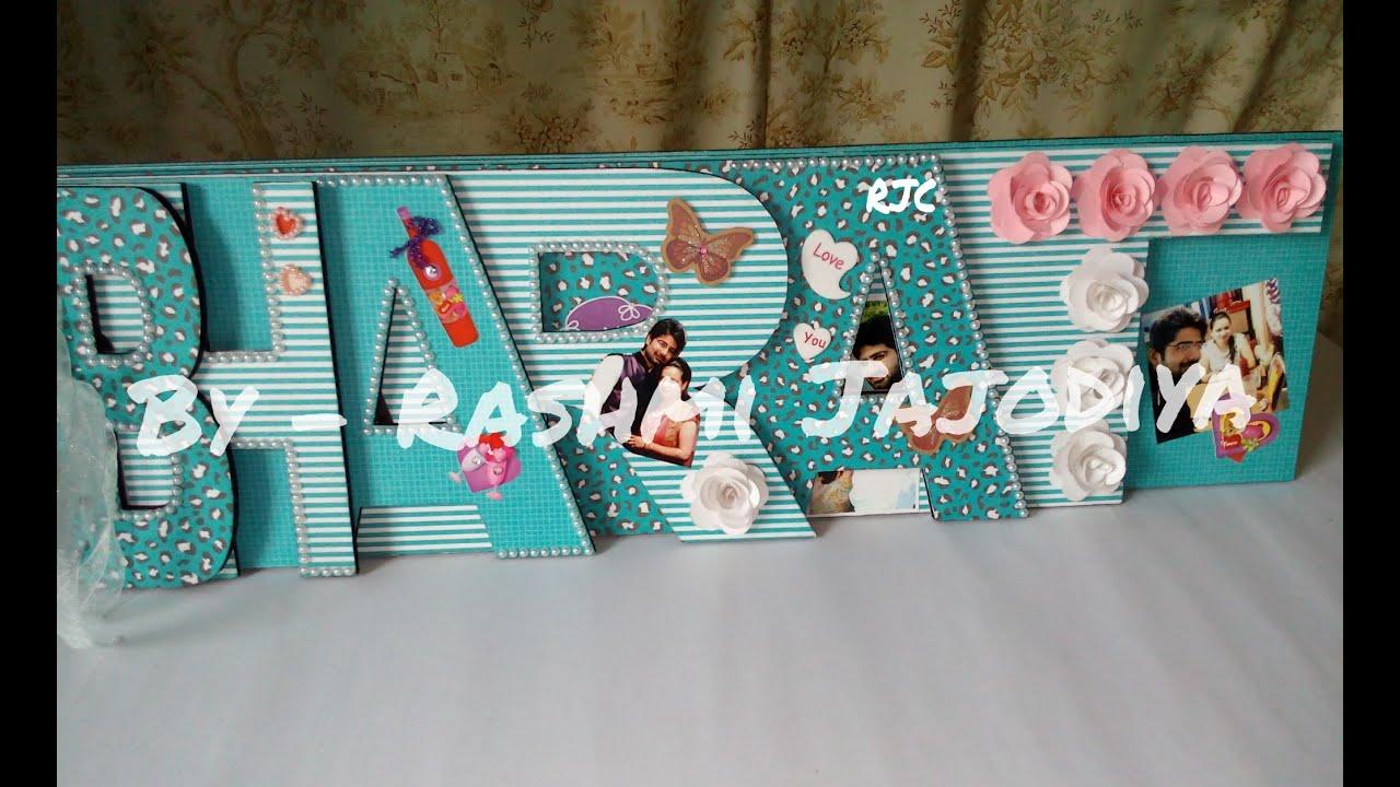 Scrapbook ideas names - Chipboard Word Album Custom Name Scrapbook By Rashmi Jajodiya