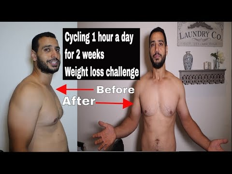 Cycling 1 hour a day for 2 weeks Weight loss challenge