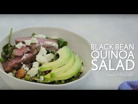 How to Make Black Bean Quinoa Salad with Chipotle Steak | Cooking Light