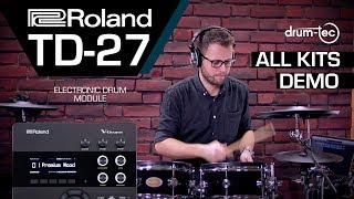 Roland TD-27 electronic drum module playing all kits demo with drum-tec diabolo series