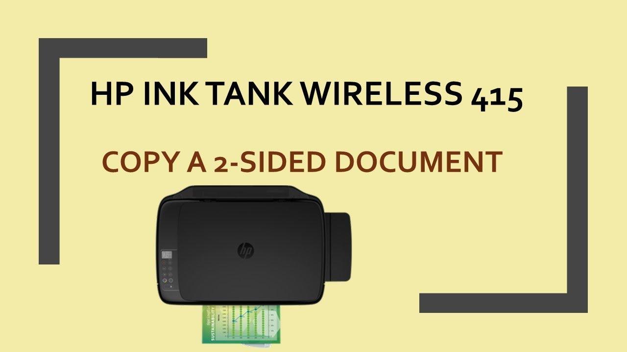 HP Ink Tank Wireless 415 | 419 | 418 | 410 : Copy a 2 sided document