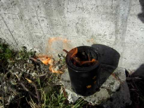 Hornillo de gas de lea casero  Woodgas stove  Doovi