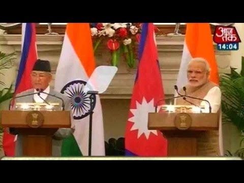 PM Modi, Nepal PM KP Oli Address Media