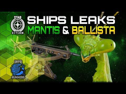 Star Citizen | Ship Leaks Mantis & Ballista