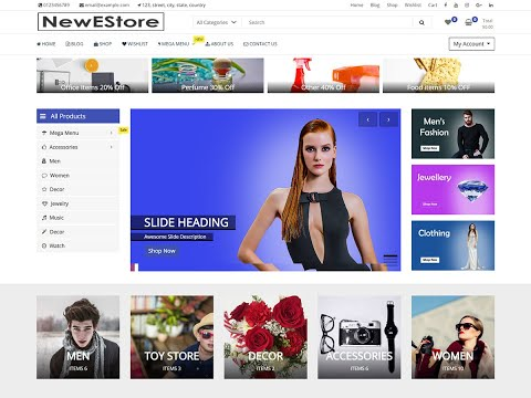 NewEStore Theme, WooComerce - Create Ecommerce Shopping Site (Online Store) In 20 Minutes
