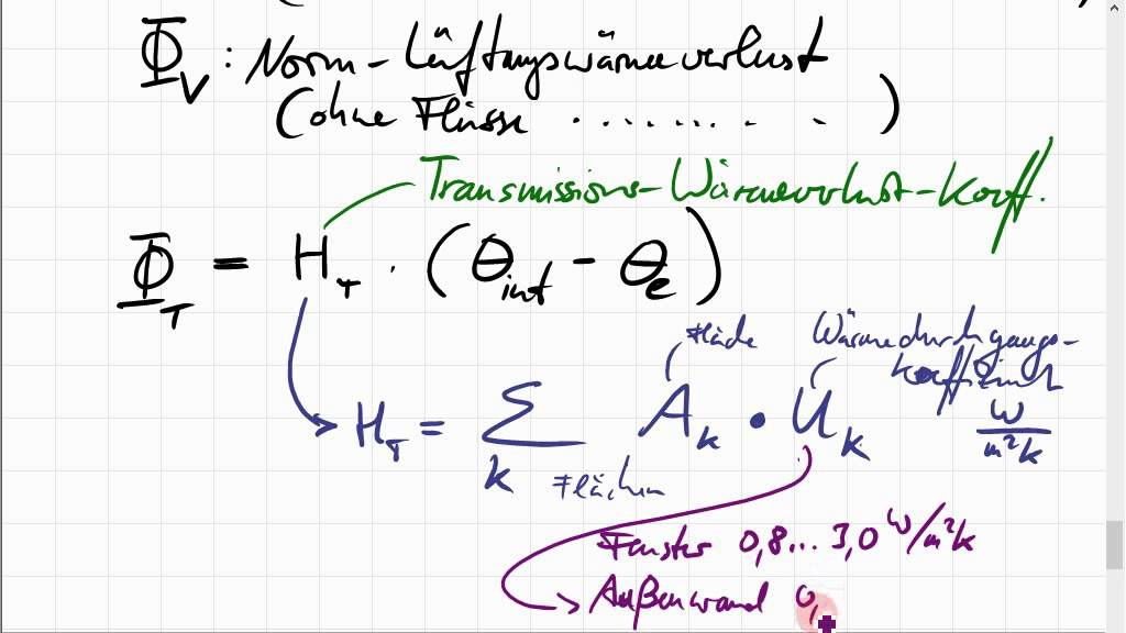 heizlastberechnung - Heizlastberechnung Beispiel