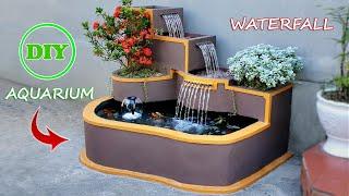 DIY an Amazing 3-Floor Waterfall Aquarium