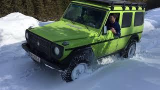 Mercedes G, Puch G im Schnee