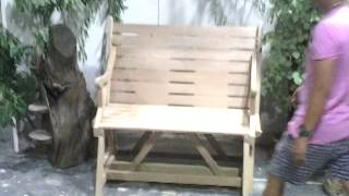 Wooden Bench That Converts To A Table