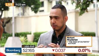 Richard Heydarian Bloomberg Interview on Duterte's China Policy