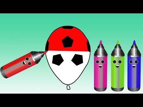 Pencil Colors With Balloons Video For Kids || Nursery Rhymes and Learn Colors For Children thumbnail