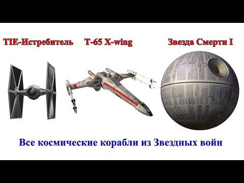 Сравнение всех космических кораблей из вселенной Звездных войн