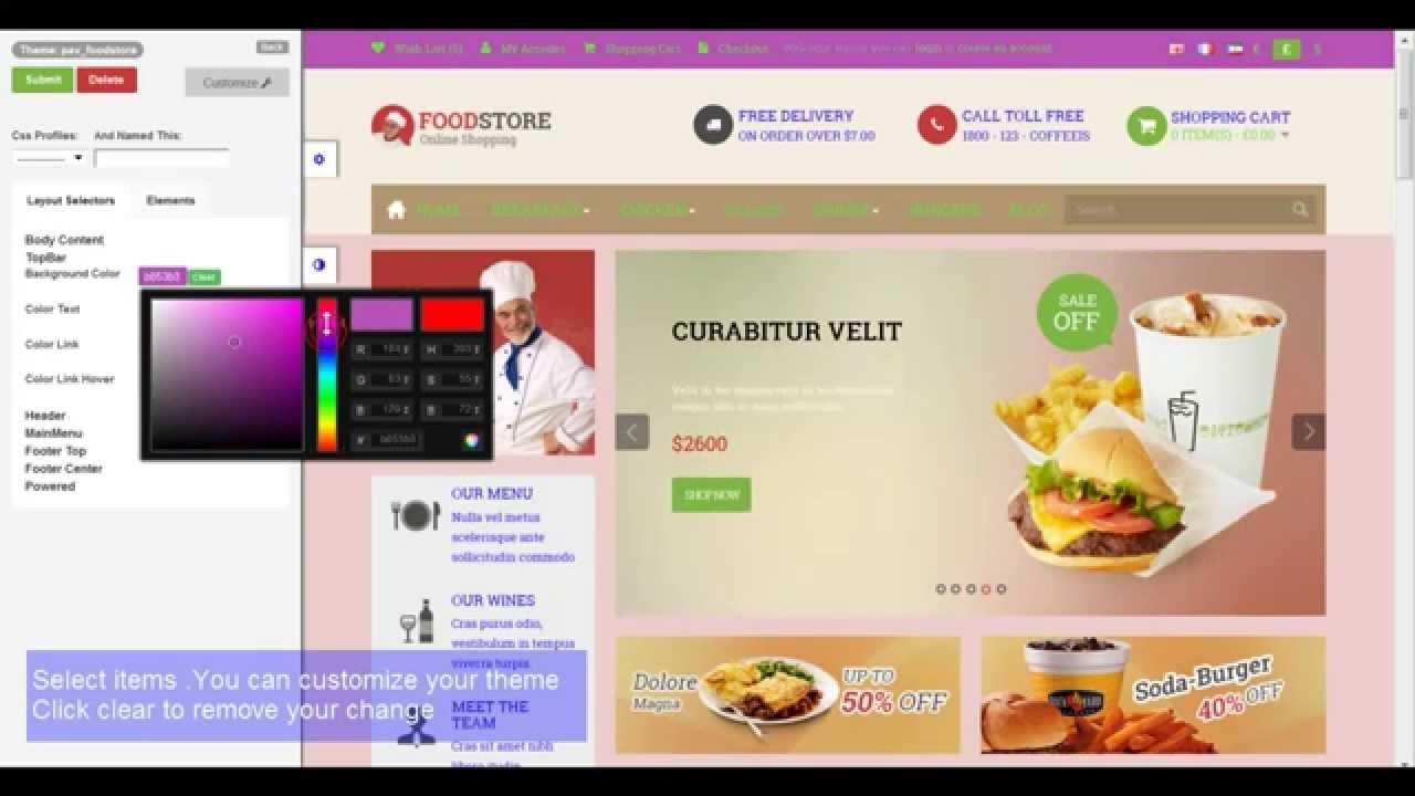 Pav live theme editor opencart tutorials youtube for Opencart template editor