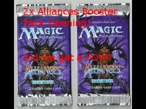 Magic The Gathering: Opening 2x Alliances Vintage Booster Packs! Did we get a force of will?
