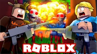 YOUTUBERS VS ZOMBIES IN ROBLOX! (Roblox Zombie Zone)