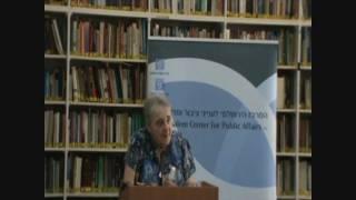 Blockade on Gaza: Legal Expert Ruth Lapidoth, Part 1