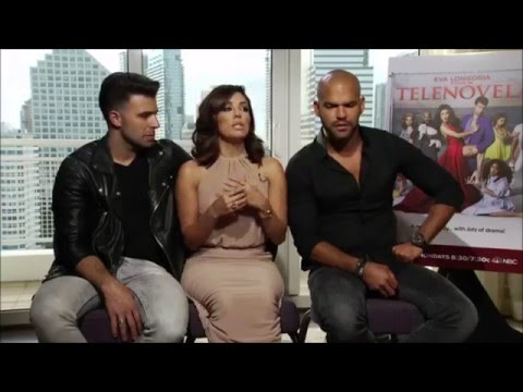 Eva Longoria, Jencarlos Canela and Amaury Nolasco talk about Spanish and their sitcom Telenovela