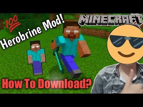 How To Download Herobrine Mod For Minecraft Pe     Herobrine Mod   