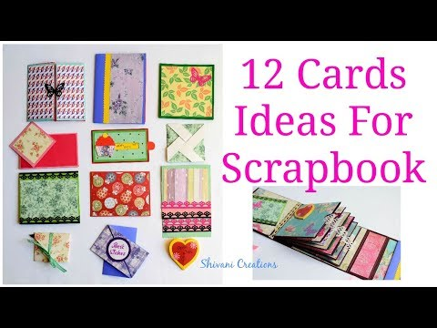 How to make Scrapbook Pages/ 12 Birthday Card Ideas/ DIY Birthday Scrapbook Part Two