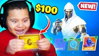 Kid Spends $100 On Chapter 2 *MAX* Battle Pass With Brother's Credit Card! (Fortnite)