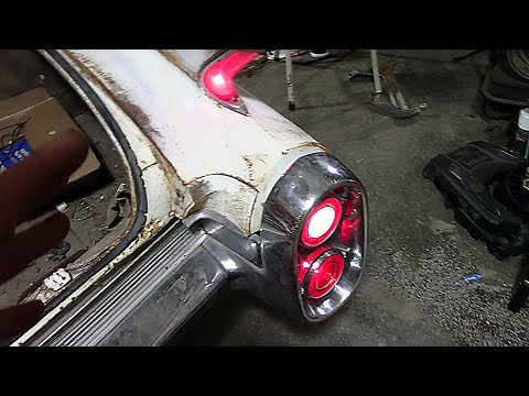 Fixing The Tail Lights On The Cadillac