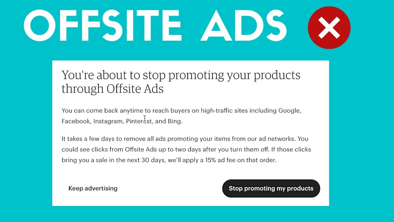 How To Turn Off Etsy Offsite Ads That Charge 15%