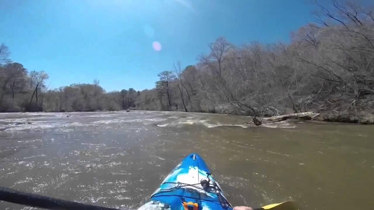 Kayaking Flat Shoals Creek Georgia at low water - YouTube