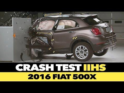 2016 Fiat 500X IIHS CRASH TEST Small Overlap