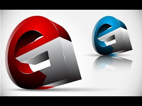 How to create FULL 3D Logo Design in Adobe Illustrator CS5 HD1080p (eG ...