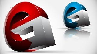 Repeat youtube video How to create FULL 3D Logo Design in Adobe Illustrator CS5 HD1080p (eG)