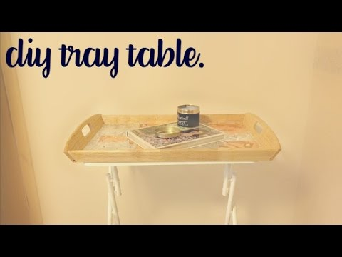 DIY Tray Table