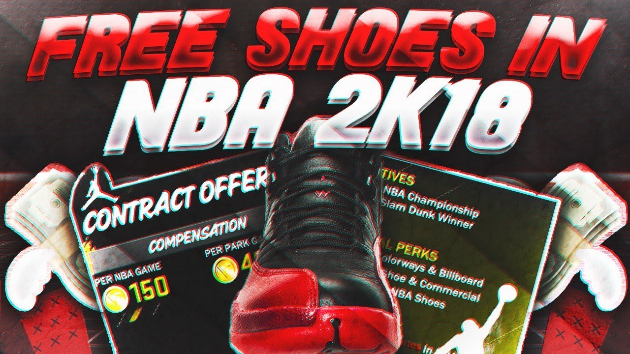 How To Get Free Shoes In NBA2K18! - Free Nike's Jordans Adidas And Reebok's  in NBA2K18