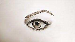 easy beginners eye drawings realistic draw