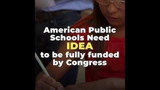 Congress Must Fully Fund IDEA