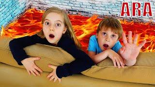 Ulya ينقذ من الحمم !!the floor is lava