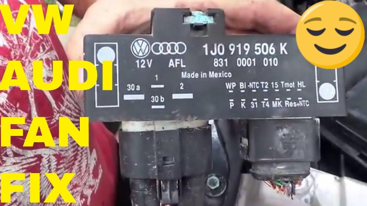Mk1 Golf Gti Wiring Diagram Emg Solderless Vw Audi Fan Relay Cooling Control Unit Module Youtube