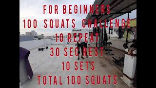 #100 Squats Challenge For Beginners#yogam Health Care