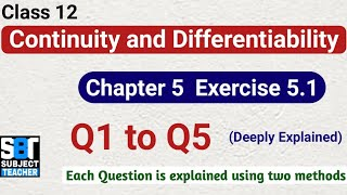 Chapter 5 Ex 5.1 Continuity and Differentiability class 12 Maths || NCERT
