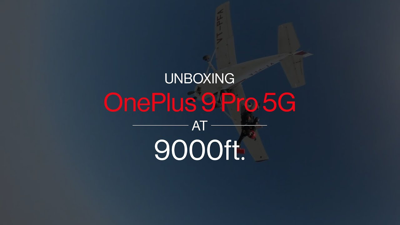 Unboxing OnePlus 9 Pro 5G at 9000 ft.